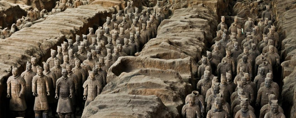 Terracotta leger eerste Chinese keizer